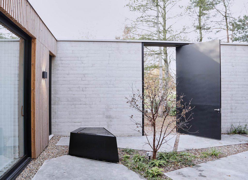 Wandplanken Van Beton : Casa grindnest eengezinswoning in het groen dhulst